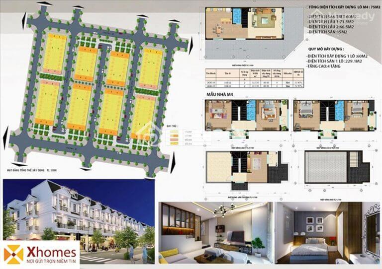 Mẫu liền kề M4 dự án DTA Garden House VSIP Từ Sơn Bắc Ninh