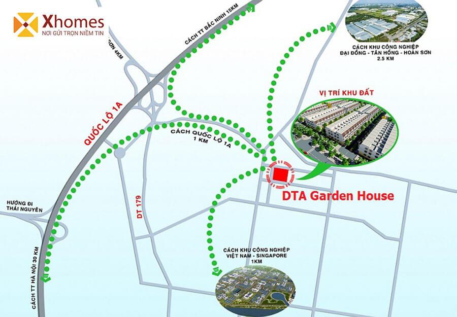 Những liên kết của dự án DTA VSIP Garden House Bắc Ninh