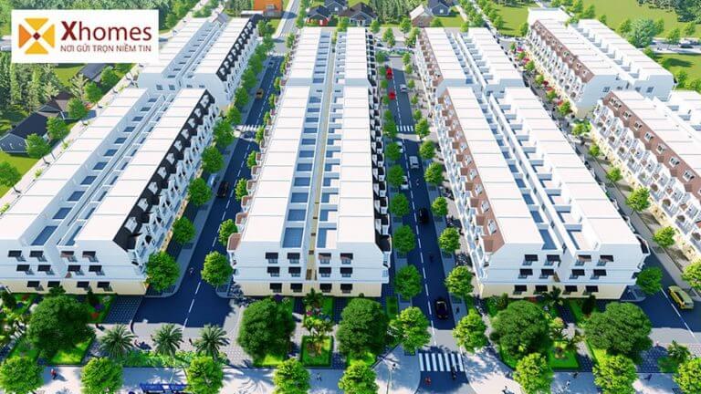 Phối cảnh dãy nhà liền kề dự án DTA Garden House VSIP Từ Sơn Bắc Ninh
