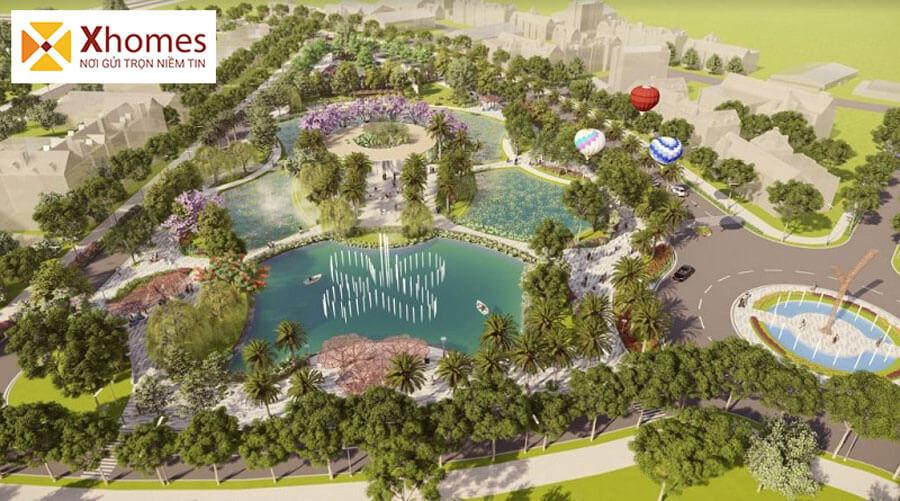 Khuôn viên xanh dự án DTA Garden House VSIP Bắc Ninh