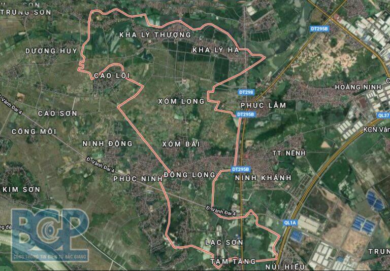 Khu đô thị mới Quang Minh nằm tại huyện Việt Yên Bắc Giang