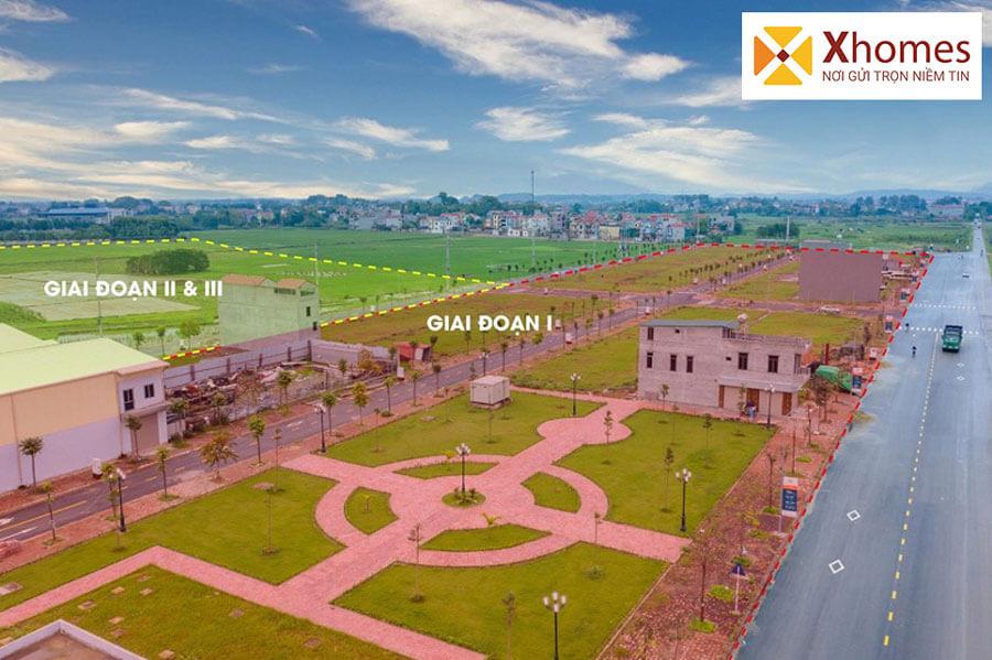 Hình ảnh Flycam của dự án Dĩnh Trì Bắc Giang - Nút giao quốc lộ tỉnh Bắc Giang