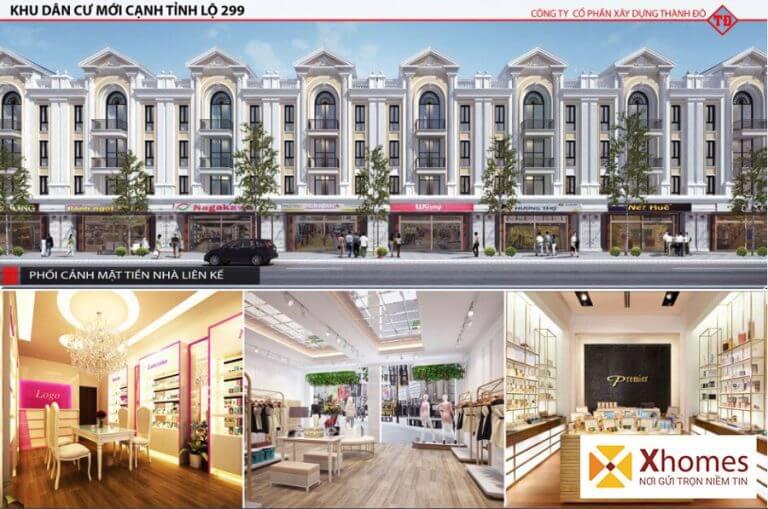 Những mẫu thiết kế nội thất của sản phẩm liền kề dự án Dĩnh Trì