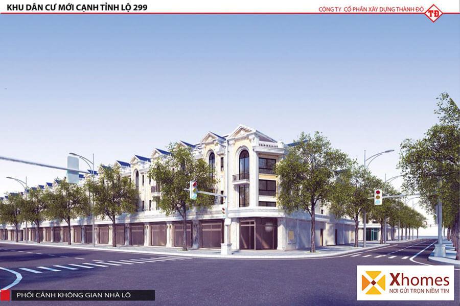 Phối cảnh sản phẩm liền kề dự án KĐT Dĩnh Trì - Nút thắt trọng điểm tại Bắc Giang