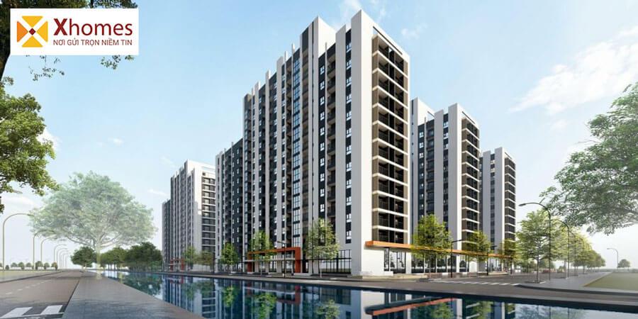 Phối cảnh chung cư khu nhà ở công nhân và thương mại KCN Yên Phong