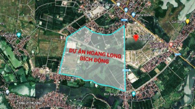 Vị trí đắc địa tại dự án Hoàng Long Bích Động - Việt Yên - Bắc Giang