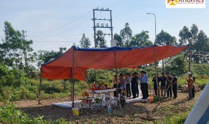 Vị trí tổ chức lễ khởi công dự án đất nền đấu giá Đông Yên, Yên Phong, Bắc Ninh