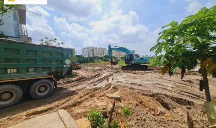 Tiến độ thi công đất nền đấu giá Đông Yên - Yên Phong, Bắc Ninh